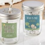 Personalized King of the Jungle Birthday Mason Jars