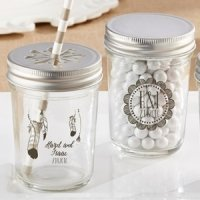 Personalized Bohemian Printed Mason Jar (Set of 12)