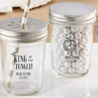 King of the Jungle Mason Jar Birthday Favors (Set of 12)