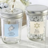Personalized Religious Theme Mason Jar Favors (Set of 12)