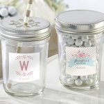 Personalized Rustic Mason Jar Bridal Shower Favors