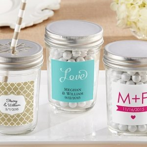 Personalized Clear Mason Jars with Lids (Set of 12) image