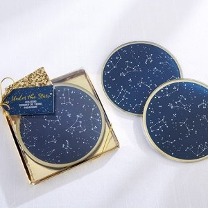 Under the Stars Glass Coasters image
