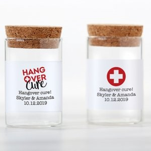 Personalized Hangover Cure Glass Tube Jar (Set of 12) image