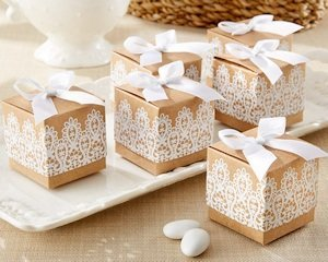 Rustic & Lace Kraft Party Favor Boxes (Set of 24) image