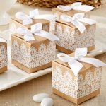 Rustic & Lace Kraft Party Favor Boxes (Set of 24)