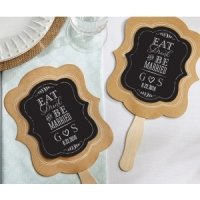 Personalized Eat Drink & Be Married Fan Favors (Set of 12)