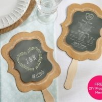 Kraft Paper Personalized Hand Fans (Set of 12)