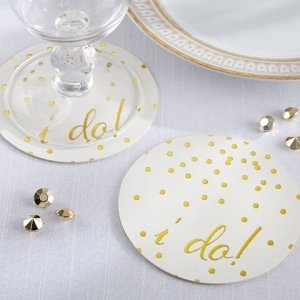 I Do! Wedding Paper Coasters (20 Count) image