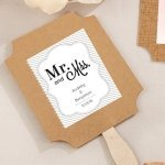 Burlap Design Fan Favors - Many Designs (Set of 12)