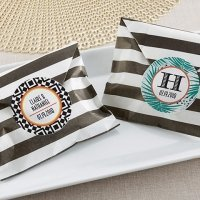 Striped Tropical Chic Paper Favor Bags (Set of 25)