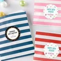 Striped Party Time Paper Favor Bags (Set of 25)