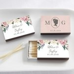 Personalized English Garden Matchboxes (Set of 50)