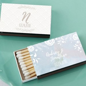 Personalized Ethereal Design White Matchboxes (Set of 50) image