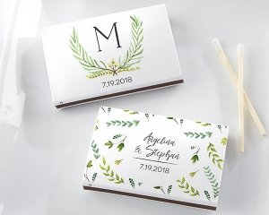 Personalized Botanical Garden Matchboxes - White or Black (S image