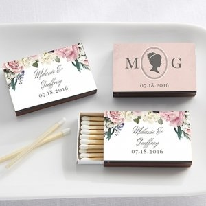 Personalized English Garden White Matchboxes (Set of 50) image