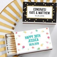 Personalized Party Time Matchboxes (Set of 50)