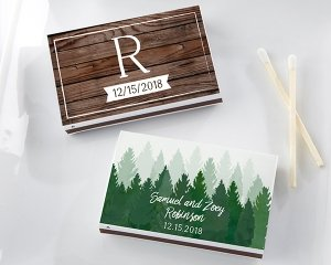 Personalized Winter Design White Matchboxes (Set of 50) image