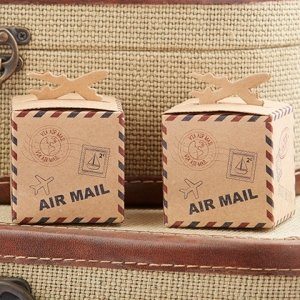 Let the Adventure Begin Airplane Kraft Favor Box (Set of 24) image