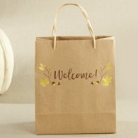 Gold Foil Fall Welcome Bag (Set of 12)