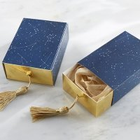 Constellation Slide Favor Box with Gold Foil and Tassel (Set