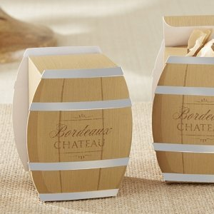 Wine Barrel Favor Box (Set of 24) image