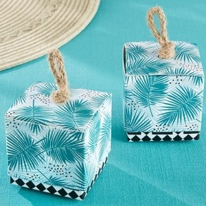 Tropical Chic Palms Favor Box (Set of 24) image