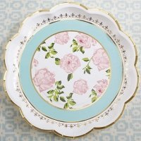 Tea Time Whimsy Paper Plates (Set of 8)