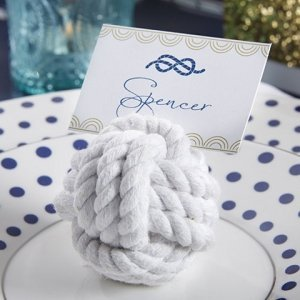 Nautical Cotton Rope Knot Place Card Holder (Set of 6) image
