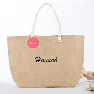 Natural Jute Tote Bag image