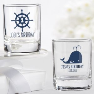 Personalized Nautical Birthday Shot Glass Party Favors image