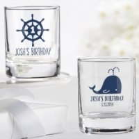 Personalized Nautical Birthday Shot Glass Party Favors