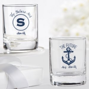 Personalized Nautical Bridal Shower Shot Glass/Votives image