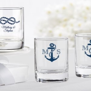 Nautical Theme Personalized Shot Glass or Votive Holder image