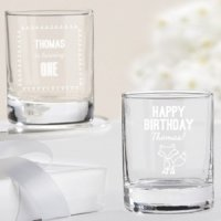 Personalized Woodland Birthday Theme Shot Glass/Votives