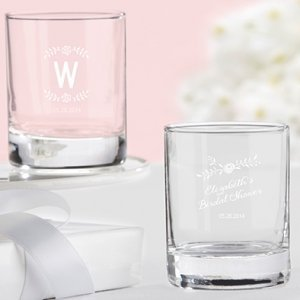 Personalized Rustic Bridal Shower Shot Glass/Votives image