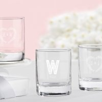 Rustic Theme Personalized Shot Glass or Votive Holder