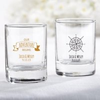 Personalized Travel and Adventure Shot Glass Votive Holder