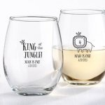 King of the Jungle Personalized 9 oz Stemless Glasses