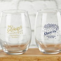Personalized 9 oz Party Time Stemless Wine Glass
