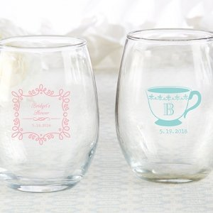 Personalized 9 oz Tea Time Stemless Wine Glass image