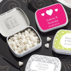Heart Personalized Mint Wedding Favor Tins (165 Designs) image