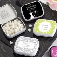 Personalized Bride and Groom Wedding Mint Tins (165 Designs)