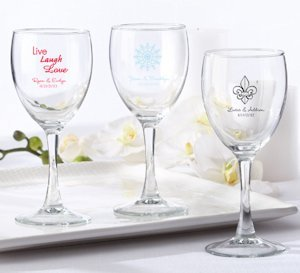 Personalized Wine Glass Wedding Favors (8.5 Ounce) image