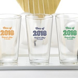 Personalized 16 oz Class of 2018 Pint Glass image