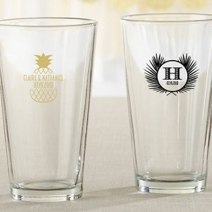 Personalized Tropical Chic Pint Glass image