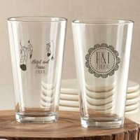 Personalized Bohemian Pint Glass Favors