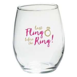 Last Fling Before the Ring Stemless Wine Glasses (Set of 4) image