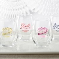 Personalized 15 oz Party Time Stemless Wine Glass
