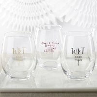 Personalized Vineyard Design 15 oz Stemless Wine Glass